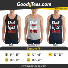 Load image into Gallery viewer, Dad of The Wild One Baby Plaid Lumberjack Birthday Theme Men's Tank Top