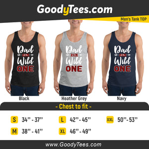 Dad of The Wild One Baby Plaid Lumberjack Birthday Theme Men's Tank Top