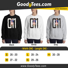 Load image into Gallery viewer, Stranger Things Eleven 011 Inspired Unisex Sweatshirt
