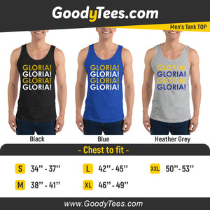 Gloria Blues Ice Hockey Fan Team Men's Tank Top