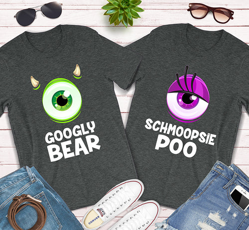 Googly Bear Schmoopsie Poo Monsters Inc Matching Couples Shirts