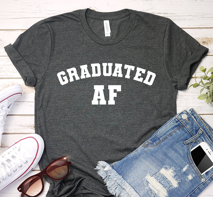 Graduated AF College Graduation Year Shirt
