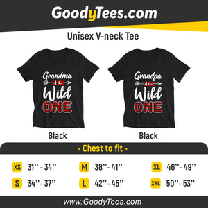 Grandma And Grandpa of The Wild One 1st Birthday Matching Unisex V-neck Shirt