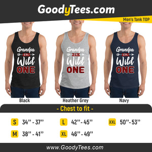 Grandfather of The Wild One 1st Birthday Party Men's Tank Top