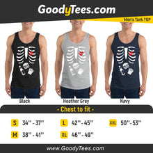 Load image into Gallery viewer, Halloween Hamburger And Friends Skeleton Pregnancy Reveal Matching Men's Tank Top