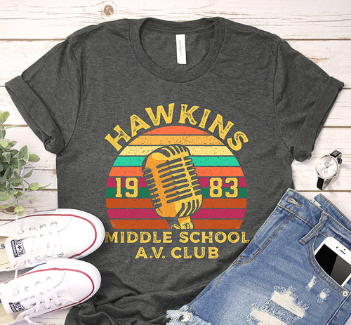 Hawkins 1983 Middle School Av Club Stranger Things Vintage Shirt