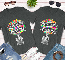Load image into Gallery viewer, He's My Greatest Adventure Disney Up Matching Couples Shirts