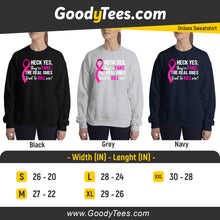 Load image into Gallery viewer, World Cancer Day Pink Ribbon Sweatshirt To Support Women's