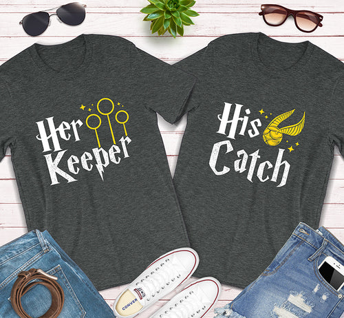 Her Keeper His Catch Harry Potter Couples Matching Shirts