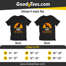 Load image into Gallery viewer, Her King His Queen Lion King Simba Nala Matching Unisex V-Neck Shirt