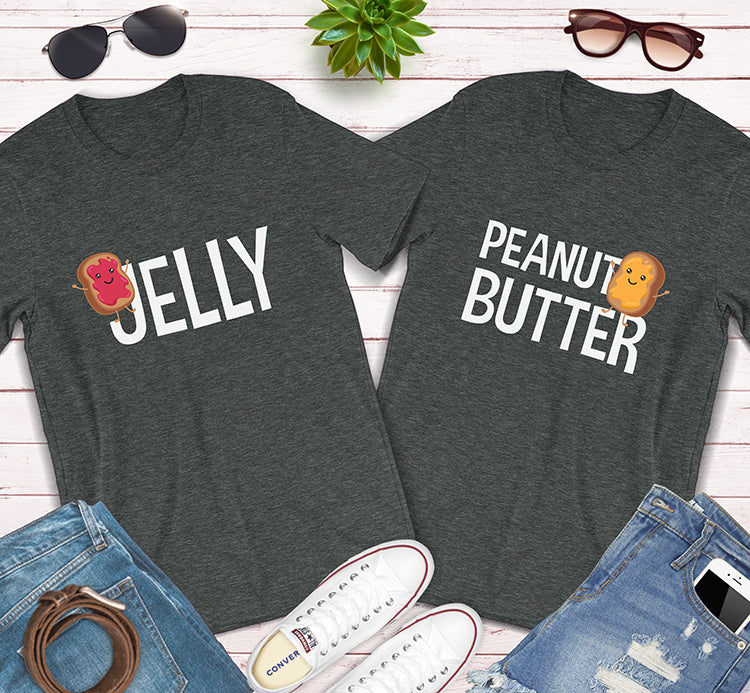 Jelly And Peanut Butter Best Friends Couples Matching Shirts