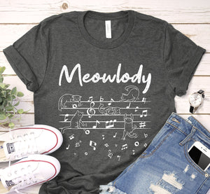 Meowlody Cat Music Melody Notes Shirt