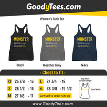 Load image into Gallery viewer, Momster Funny Word Definition Monster Costume Women's Tank Top