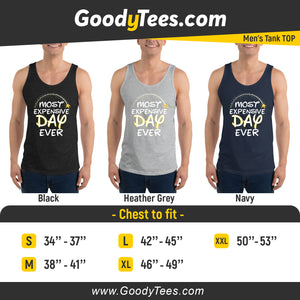 Most Expensive Vacation Ever Family Trip Matching Men's Tank Top