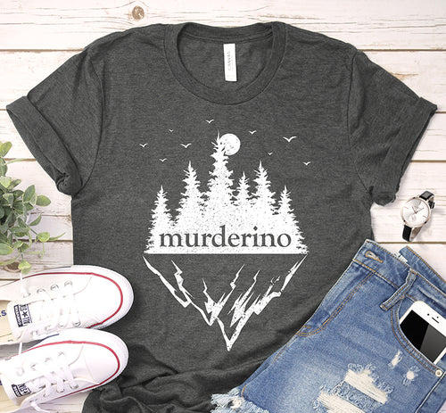 Murderino My Favorite Murder Forest Mountains Shirt