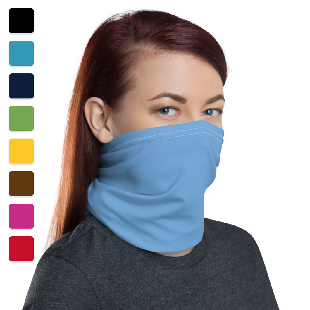 Solid Color Neck Gaiter Washable Face Cover Headband Bandana Wristband Balaclava And Neck Warmer For Men & Women