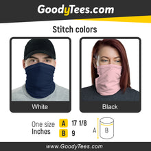Load image into Gallery viewer, Neck Gaiter Stitch Colors Size Chart Washable Face Cover Headband Bandana Wristband Balaclava And Neck Warmer Redhead Women