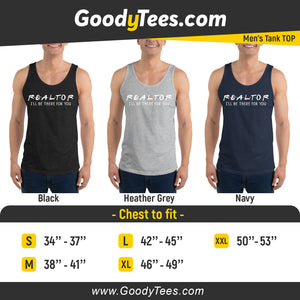 Greatest Realtor i'll Be There For You Friends Themed Men's Tank Top