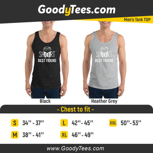 Short BFF 4 Ever Coffee Matching Men's Tank Top