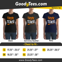 Load image into Gallery viewer, Trick Or Teach Kindergarten Funny Teacher Halloween Women's Fit Shirt