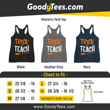 Load image into Gallery viewer, Trick Or Teach 4th Grade Teacher Witch Broom Halloween Women's Tank Top