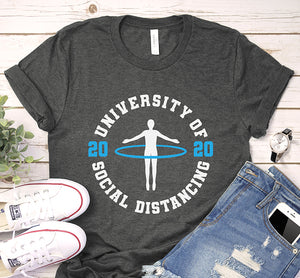 University of Social Distancing 2020 Seniors Quarantine Shirt