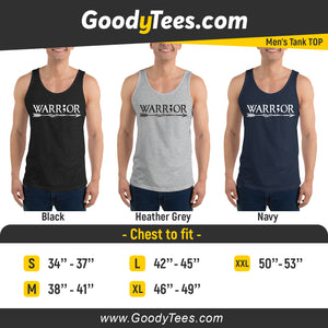 Warrior Semicolon Support And Awareness Men's Tank Top