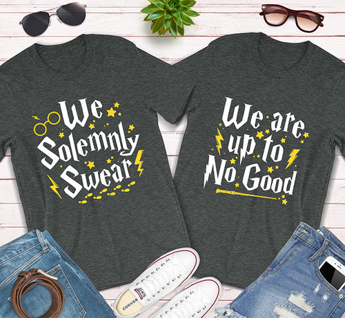 We Solemnly Swear We Are Up To No Good Harry Potter Couples Matching Shirts