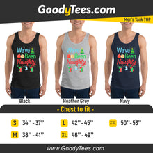 Load image into Gallery viewer, I've Been Naughty Christmas Spruce Pregnancy Matching Men's Tank Top