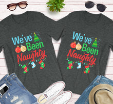 Load image into Gallery viewer, We've Been Naughty Pregnancy Announcement Xmas Matching Shirts