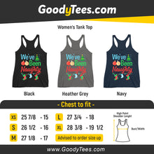 Load image into Gallery viewer, We've Been Naughty Maternity Xmas Socks Matching Women's Tank Top