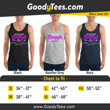 Load image into Gallery viewer, Strength Lymphoma Violet Ribbon Survivor Awareness Men's Tank Top