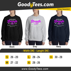 Violet Ribbon Tattoo Hodgkin's Awareness Unisex Sweatshirt