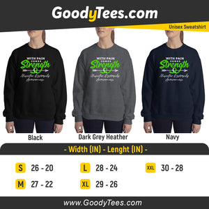 Dystrophy Survivor Green Ribbon Awareness Unisex Sweatshirt