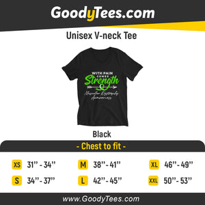 Green Ribbon Dystrophy Awareness Unsiex V-Neck Shirt