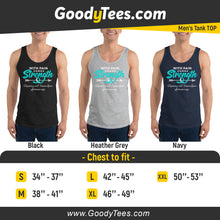 Load image into Gallery viewer, Strength Teal Ribbon Trigeminal Neuralgia Survivor Men's Tank Top
