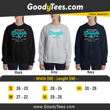 Load image into Gallery viewer, Teal Ribbon Head Neuralgia Support And Awareness Unisex Sweatshirt