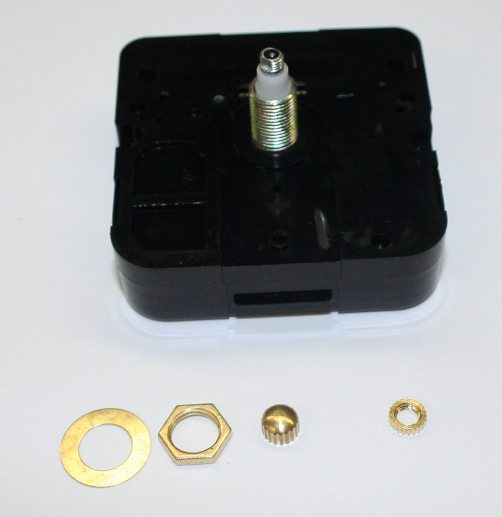 "Quartz clock movement for 3/8"" thick clock face"
