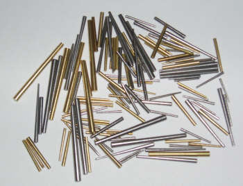 Taper pins, 100 piece assortment of brass & steel