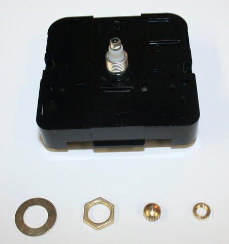 "Mini Quartz Clock Movement for dials up to 1/8"" thick"