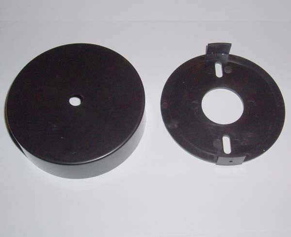 Wall mounting cup for mini quartz clock movements