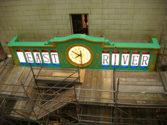 Installation of our Glo Dial clock movement. New York City East River Tunnel
