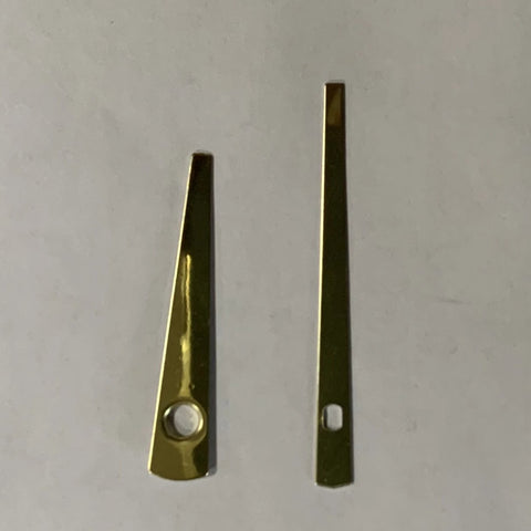 "2-1/8"" Gold Tapered clock hands"