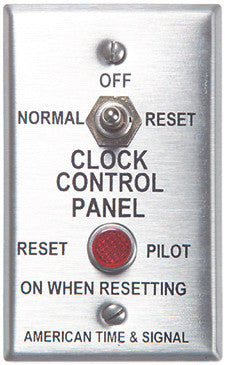 Indoor remote reset switch for Glo Dial clock movements