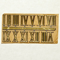 "1"" Roman numerals, set of 12, gold"