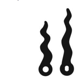 "2-3/8"" Black wavy hands for quartz clock movements"