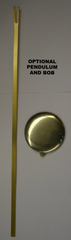 Chiming quartz clock movement with pendulum, long shaft
