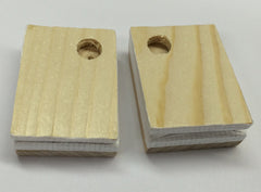 "Bellow tops for cuckoo clocks,1-1/4""x1-3/4"" One Pair"