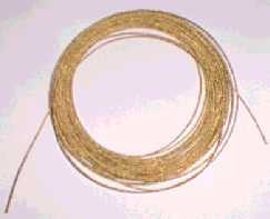 Brass cable for clocks