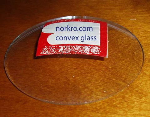 "4-3/8"" convex glass"